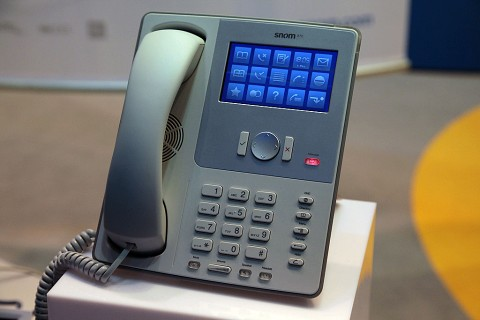 Snom 870 - Prototyp auf der Cebit 2009 (Foto: ck)