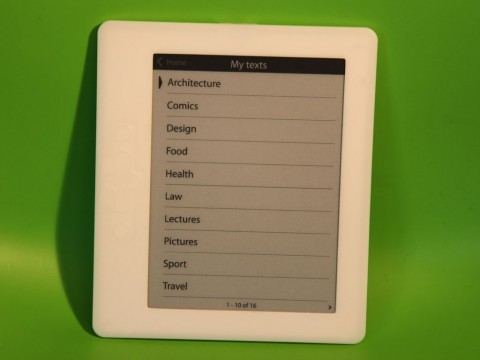 Der txtr E-Book-Reader