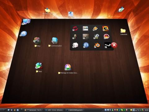 Bumptop - Desktop-Ansicht mit virtuellen Wänden