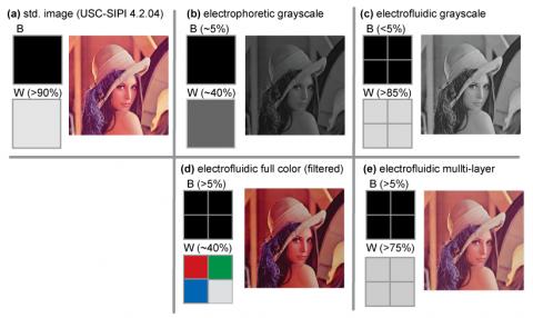 Vergleich von EFD mit anderen E-Paper-Technologien