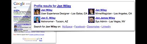 Google Profile in Suchergebnissen