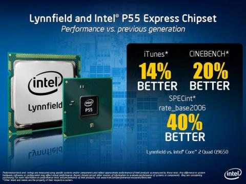 Intels Leistungserwartungen an Lynnfield im Vergleich mit dem Core 2 Quad Q9650