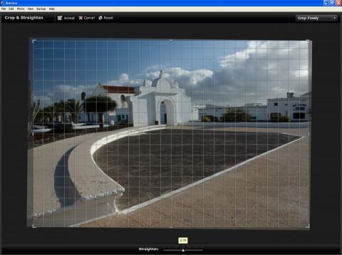 Ausrichten-Funktion (Foto: Andreas Donath, Teguise Lanzarote)