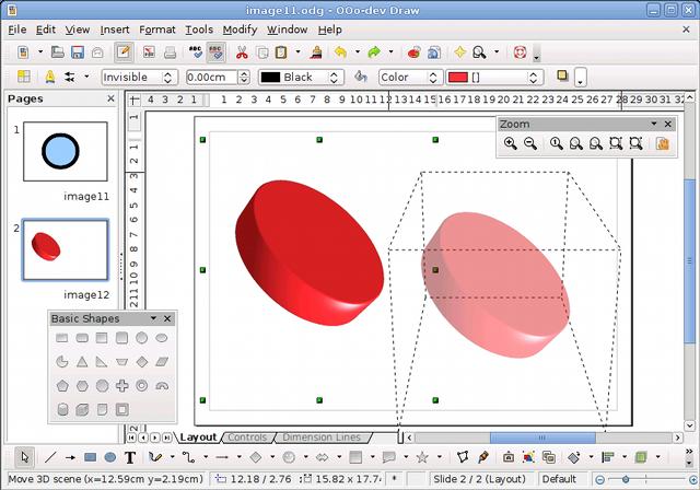 OpenOffice.org 3.1 ist fertig - Grafiken zeigt das Programm beim Verschieben an