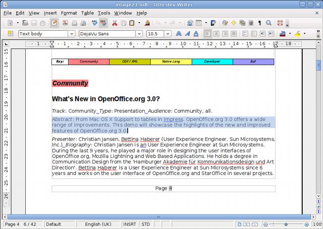 OpenOffice.org 3.1 ist fertig - Text markieren