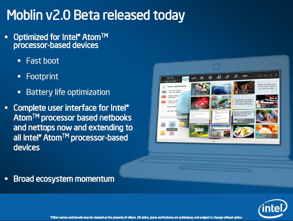 Intel: Nächste Atom-Generation angeblich zum Jahreswechsel - Moblin 2.0 kommt