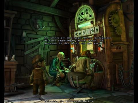 Wilbur trifft zwei Spieler an der Rollenspielmaschine.