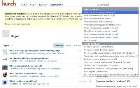 Hunch ist ein Dienst, der bei Entscheidungen helfen soll, etwa der Anschaffung eines Computers.
