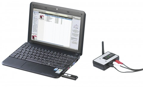 Audio-Funkübertragung - von USB nach analogem Stereoausgang (Hersteller/Marke: Auvisio - Visual Sound Technologies)