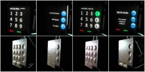 So könnte ein Bedienfeld eines Geldautomaten mit dem System aussehen (Bild: Chris Harrison, Scott Hudson)