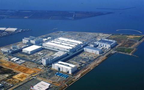 Sharps LCD-Fabrikanlage im japanischen Sakai bei Osaka - Foto der Baustelle vom März 2009