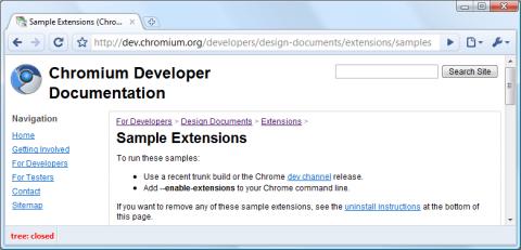 Chrome - BuildBot-Erweiterung