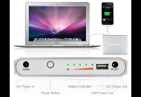 Hypermac-Akkus können Macbooks und USB-Geräte aufladen.