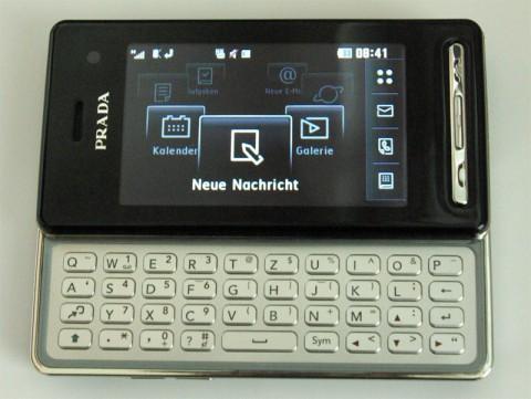 New Prada Phone - ausklappbare Tastatur und Karussell-Menü