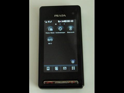 New Prada Phone - Startbildschirm