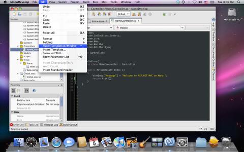 MonoDevelop unter MacOS X