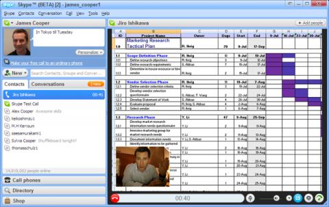 Skype 4.1 Beta - Screensharing-Funktion