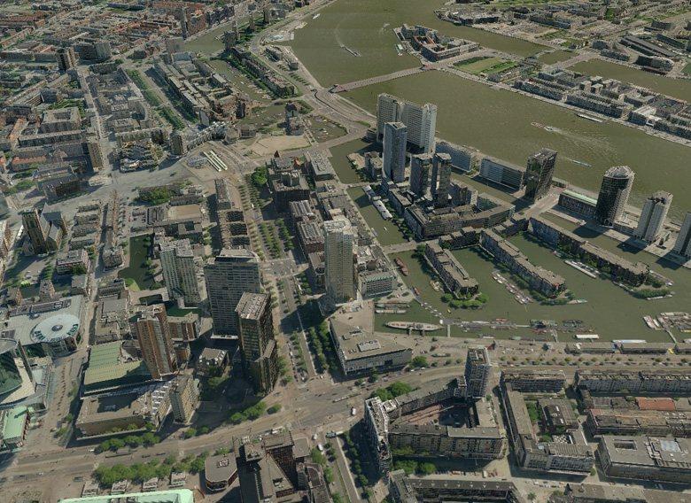 3D-Karten von Tele Atlas für Navigationsgeräte - Rotterdam