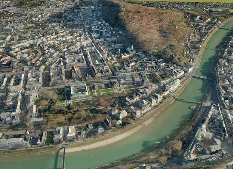 3D-Karten von Tele Atlas für Navigationsgeräte - Salzburg