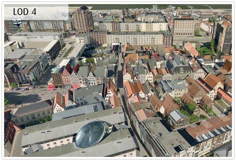 3D-Karten von Tele Atlas für Navigationsgeräte - Rostock - Level of Detail 4