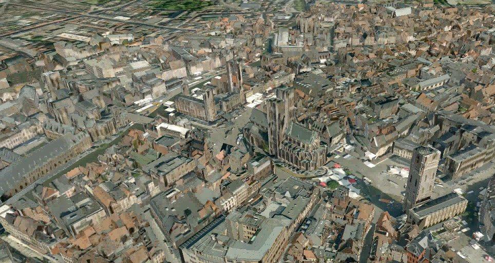 3D-Karten von Tele Atlas für Navigationsgeräte - Ghent