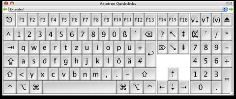 Axiotrons virtuelle Tastatur