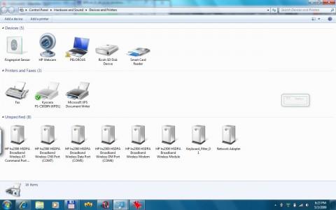 Geräteübersicht in Windows 7