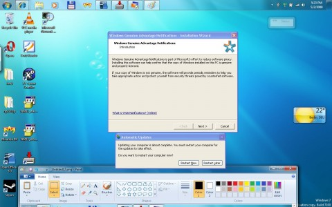 Windows-XP-Modus: Auch hier muss die Gültigkeit der Lizenz überprüft werden.