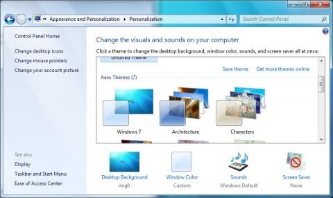 Die Theme-Verwaltung von Windows 7 ...