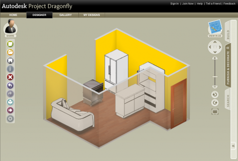 Autodesk Project Dragonfly - 3D-Ansicht