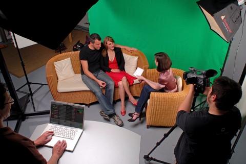 BoinxTV - Aufnahme vor Greenscreen