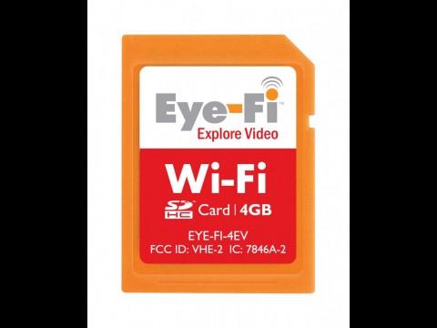 Eye-Fi Explore Video 4 GByte - SDHC-Speicherkarte mit WLAN lädt Fotos und Videos automatisch zu Foto- und Video-Sharing-Diensten.