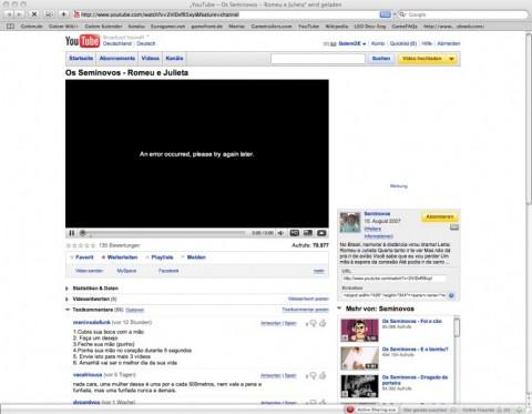 Youtube - momentan oft mit Grundgerüst, aber ohne Inhalte