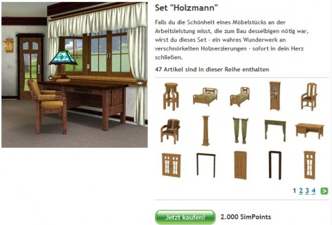 Die Sims 3: das Holzmann-Set für 24 Euro