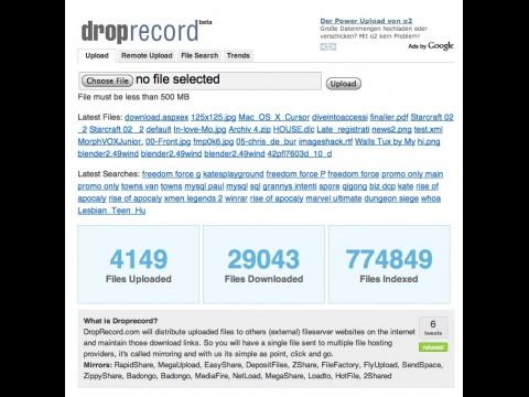 Droprecord.com - Homepage