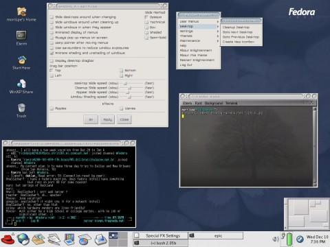 E16 unter Fedora Core