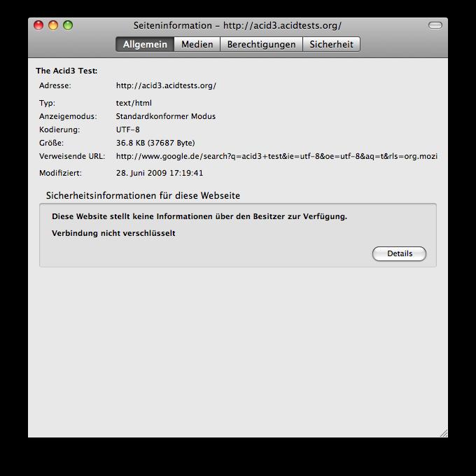 Firefox 3.5 - die Neuerungen im Detail - Firefox 3.5 - Seiteninformationen