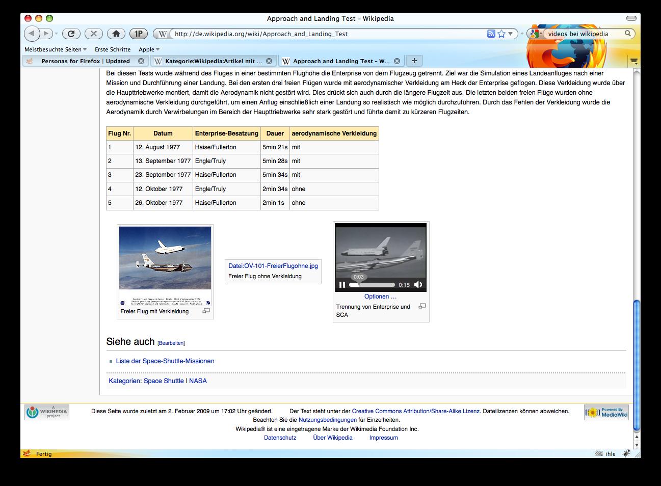 Firefox 3.5 - die Neuerungen im Detail - Firefox 3.5 - Videos in Wikipedia