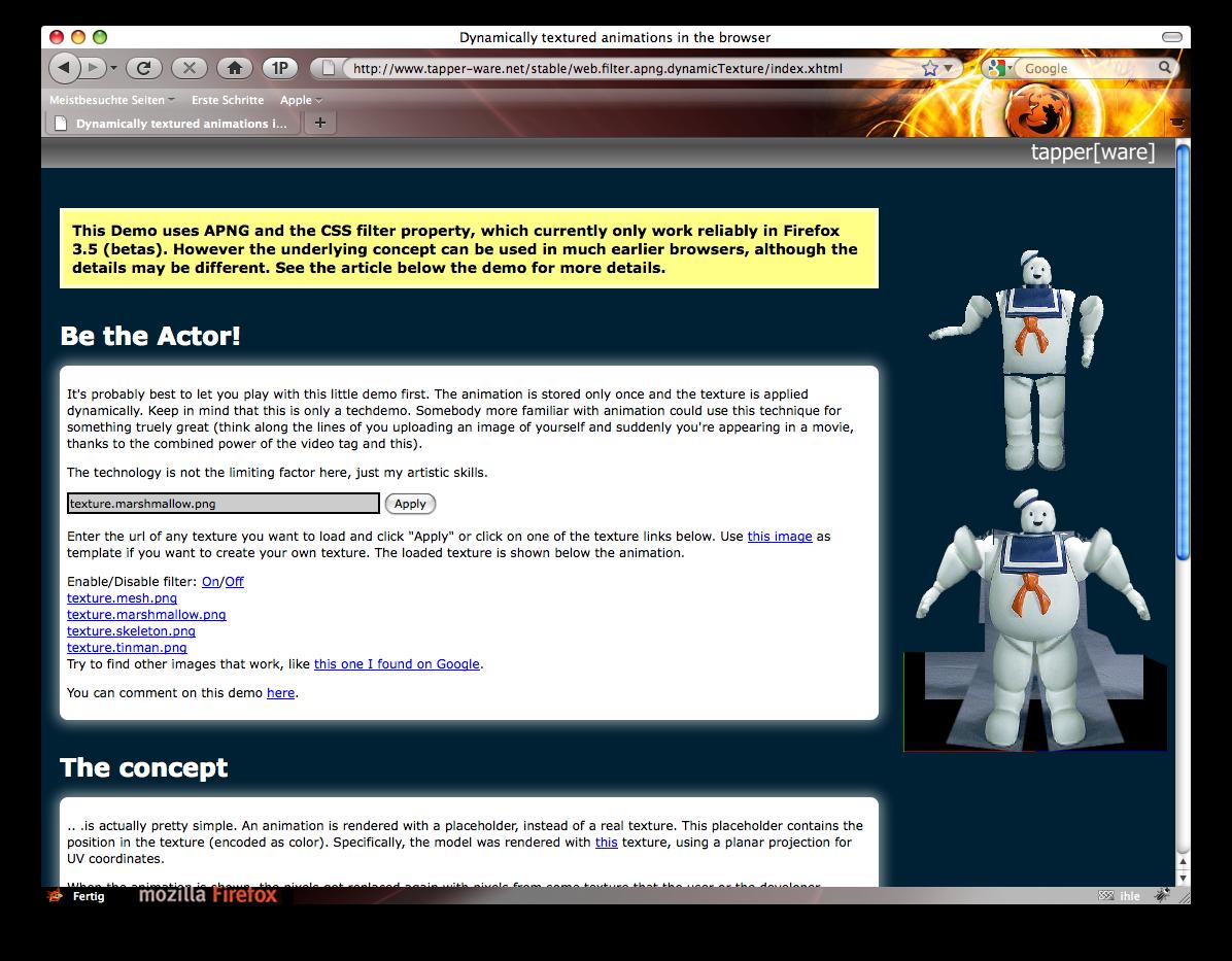 Firefox 3.5 - die Neuerungen im Detail - Firefox 3.5 - CSS-Filter