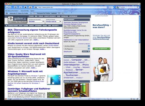 Firefox 3.5 mit Personas