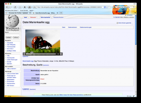 Firefox 3.5 - Videos in Wikipedia