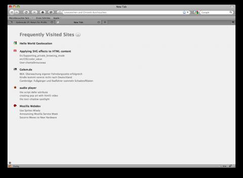 Firefox 3.5 - neues Tab