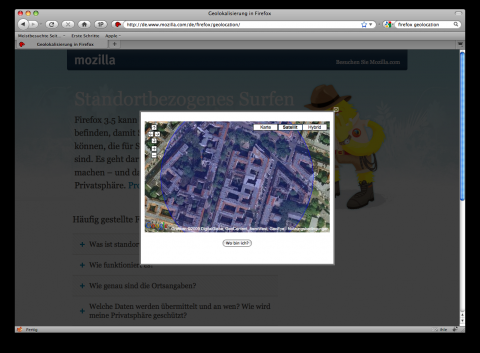 Firefox 3.5 - Geolocation