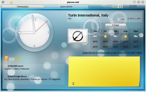 KDE-Oberfläche Plasma für Netbooks (Marco Martin)