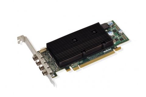 Matrox M9148: Mit drei Mini-DisplayPort-Anschlüssen wird es schon eng im Low-Profile-Format.