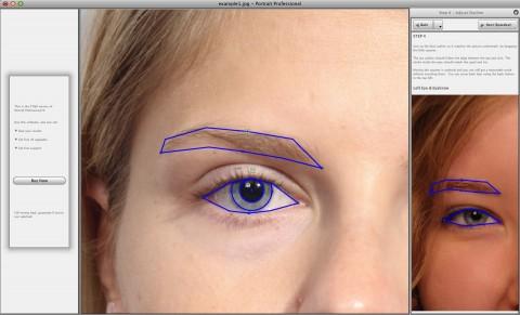 Portrait Professional 9.0 - Augenerkennung