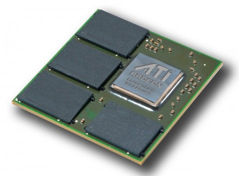 Ati Radeon E4690 mit 512 MByte GDDR3-RAM auf dem Trägermodul