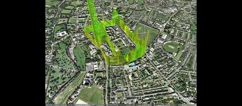 Die Belastung von Cambridge mit Kohlenmonoxid... (Bild: CamMobSens)