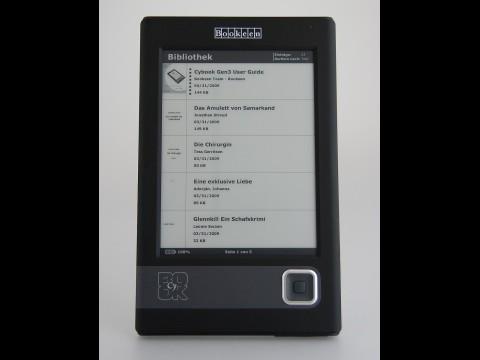 Im Menü findet der Nutzer alle auf dem Gerät gespeicherten Dateien. (Foto: wp)