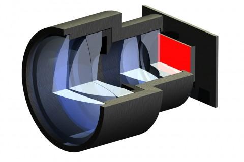 Querschnitt durch den Minibeamer (Bild: Fraunhofer IOF)